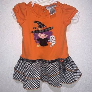 Halloween pumpkin cat witch dress baby 12 months